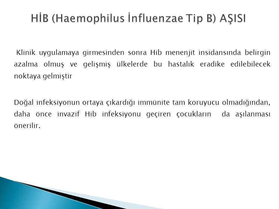 HİB (Haemophilus İnfluenzae Tip B) AŞISI