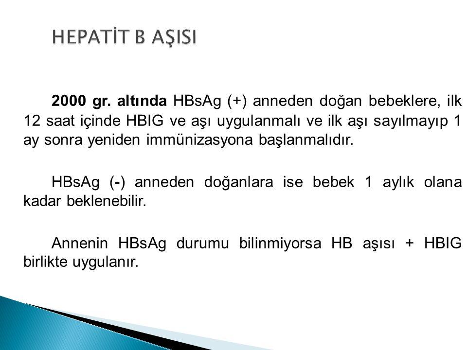 HEPATİT B AŞISI
