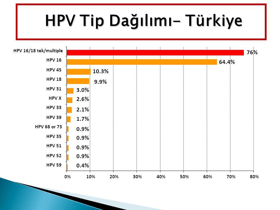 HPV Tip Dağılımı- Türkiye