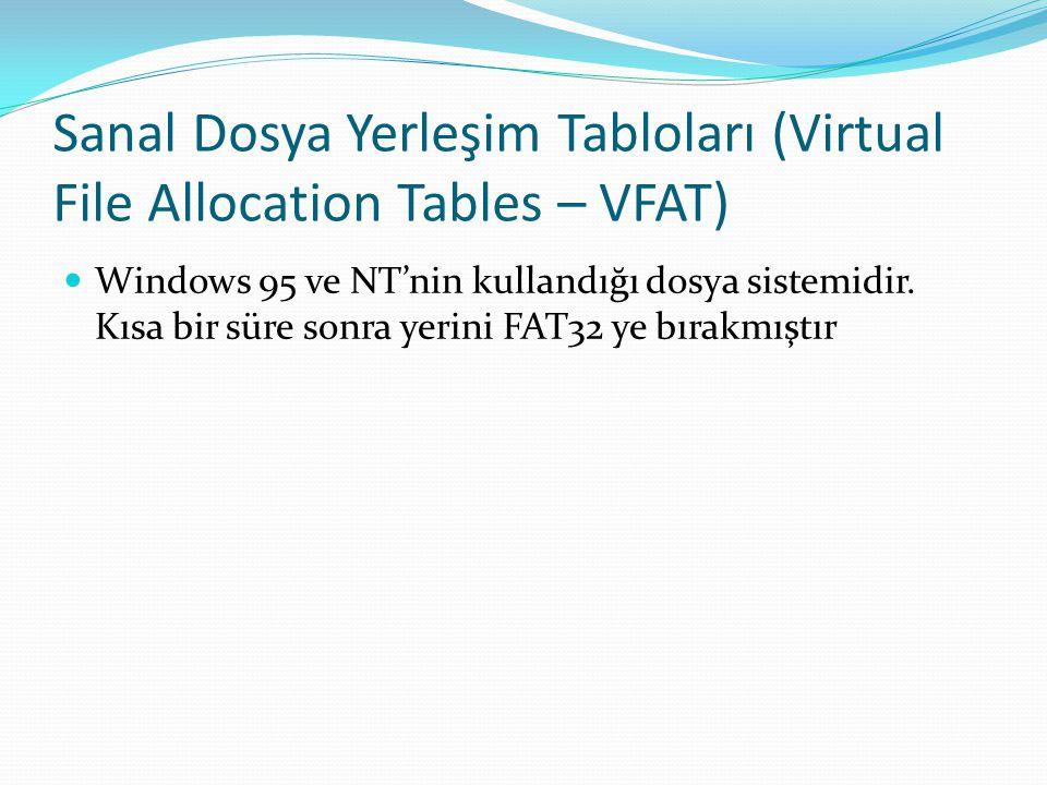 Sanal Dosya Yerleşim Tabloları (Virtual File Allocation Tables – VFAT)