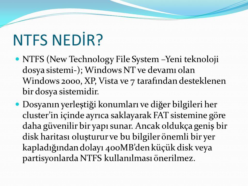 NTFS NEDİR