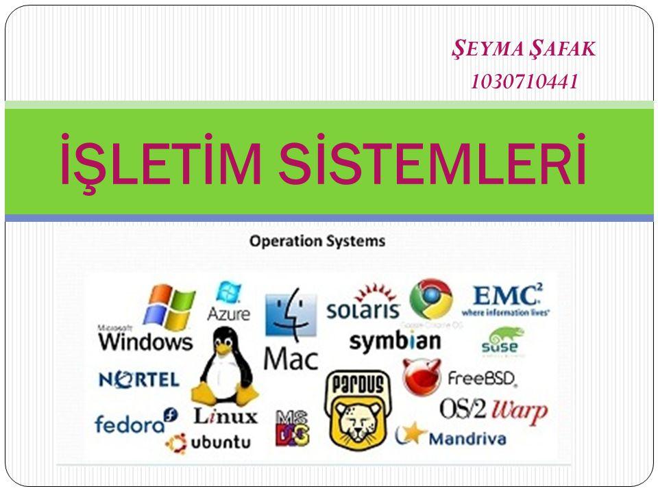 ŞEYMA ŞAFAK 1030710441 İŞLETİM SİSTEMLERİ