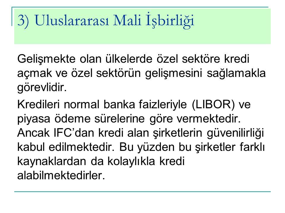 3) Uluslararası Mali İşbirliği