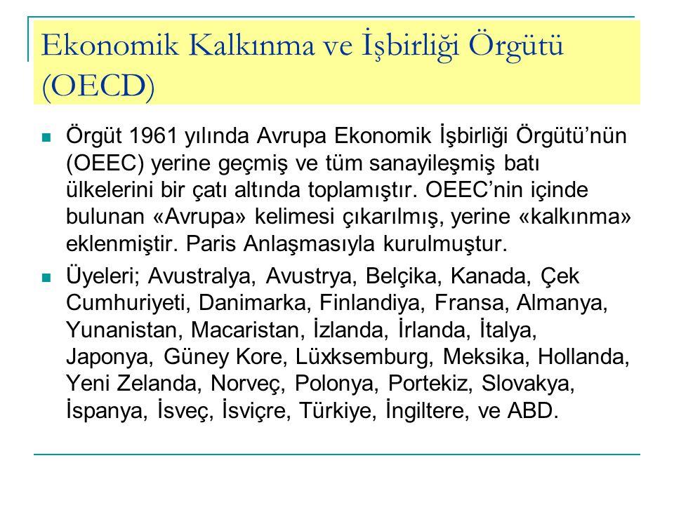 Ekonomik Kalkınma ve İşbirliği Örgütü (OECD)