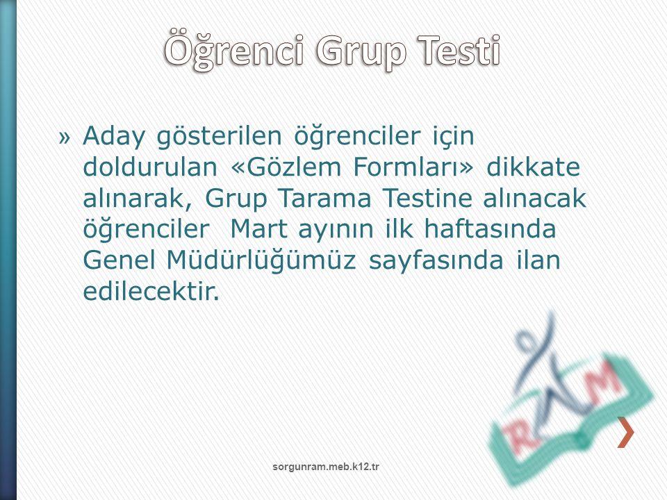 Öğrenci Grup Testi