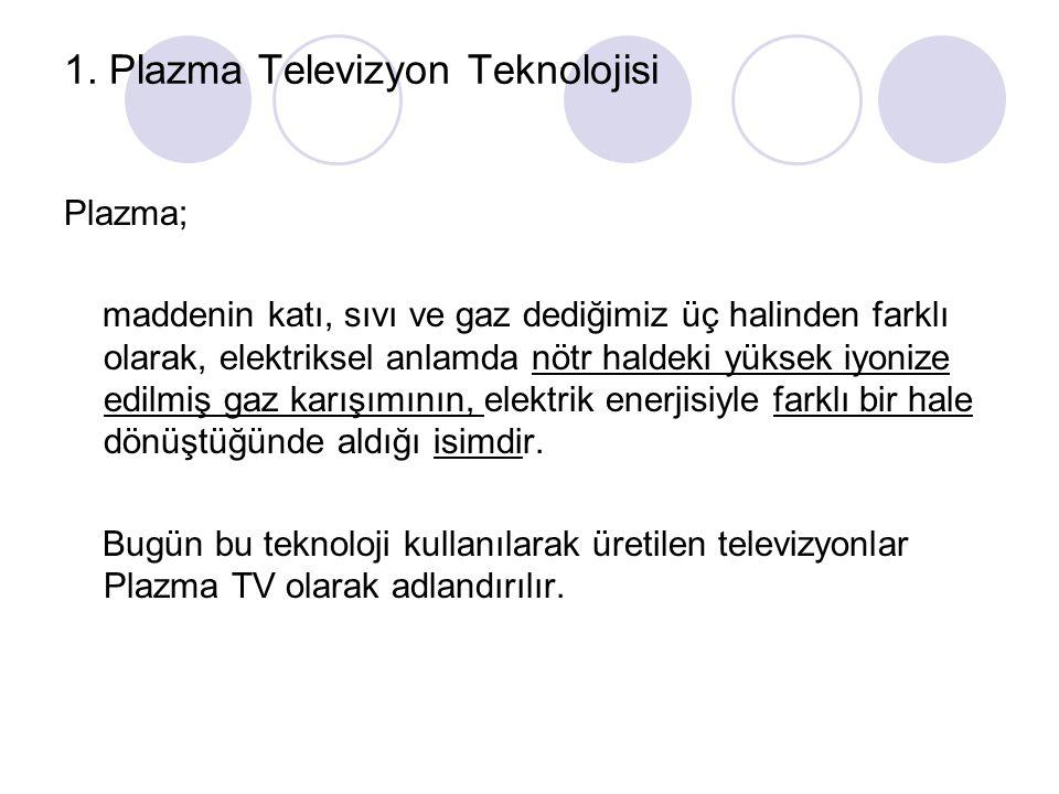 1. Plazma Televizyon Teknolojisi