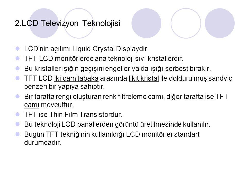 2.LCD Televizyon Teknolojisi