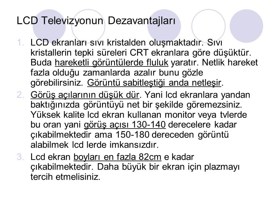 LCD Televizyonun Dezavantajları