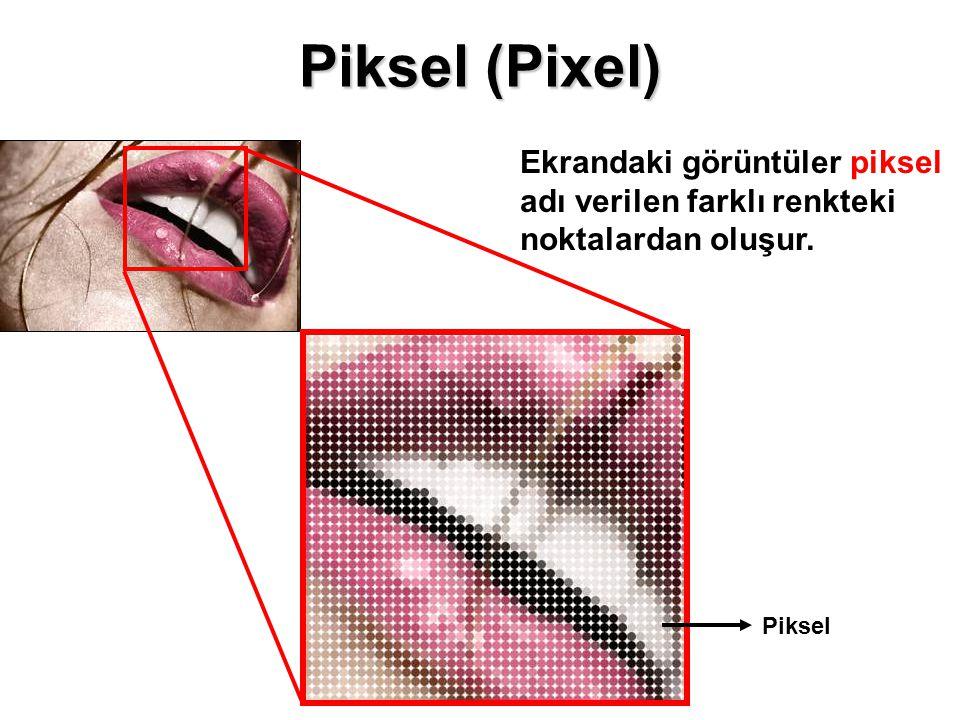 Piksel (Pixel) Ekrandaki görüntüler piksel adı verilen farklı renkteki noktalardan oluşur. Hazırlayan: Cihan UĞUR.