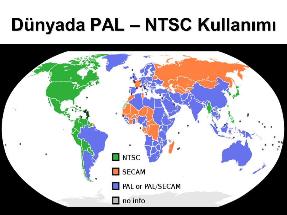 Dünyada PAL – NTSC Kullanımı