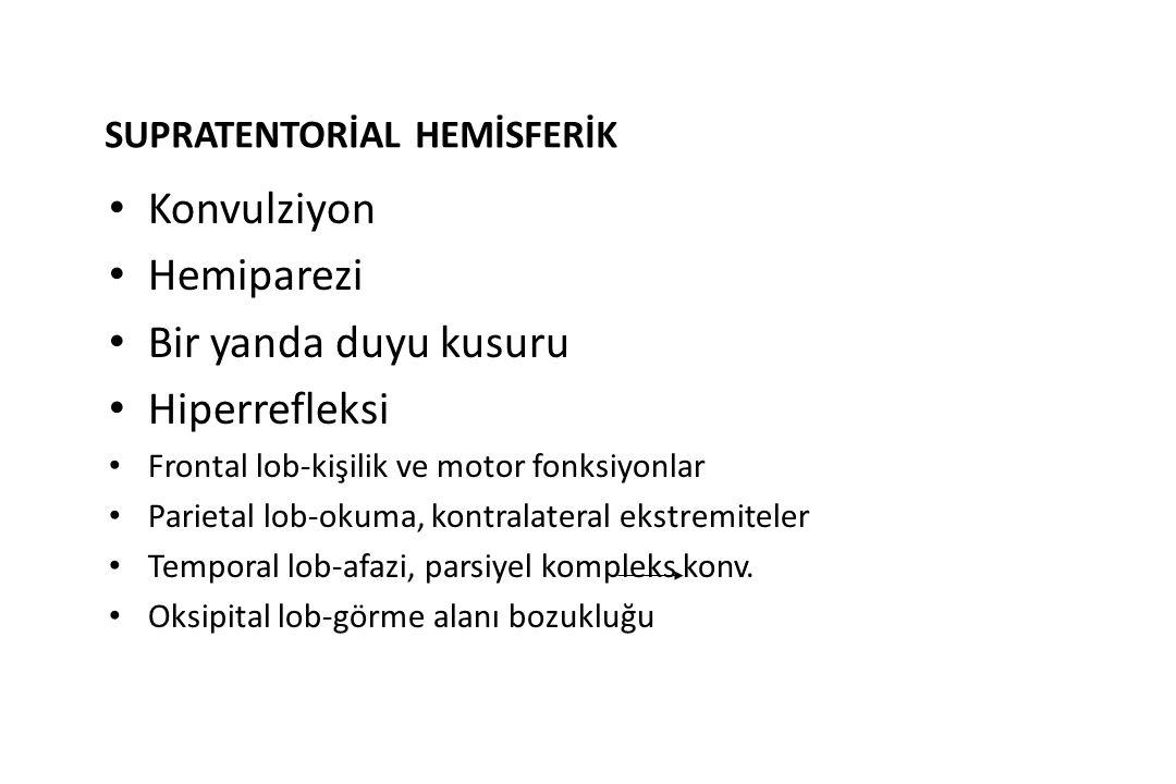 SUPRATENTORİAL HEMİSFERİK