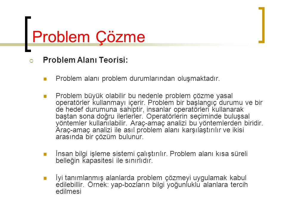 Problem Çözme Problem Alanı Teorisi: