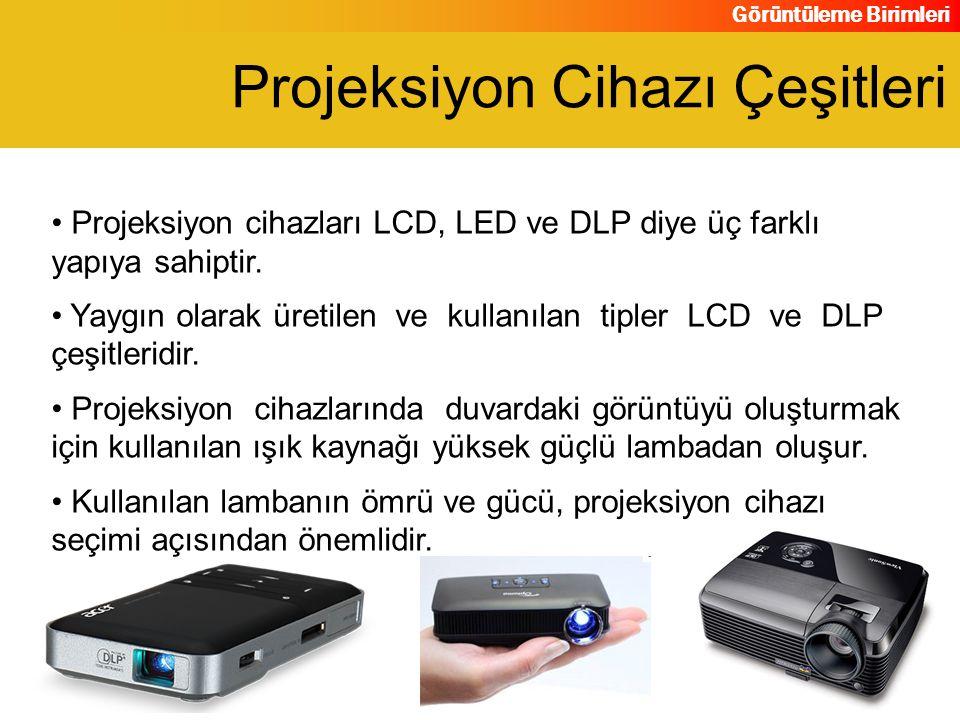 Projeksiyon Cihazı Çeşitleri