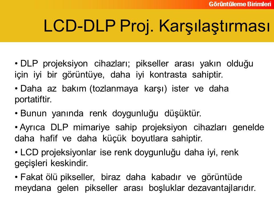 LCD-DLP Proj. Karşılaştırması
