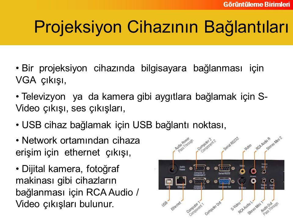 Projeksiyon Cihazının Bağlantıları
