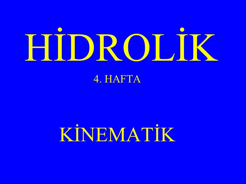 HİDROLİK 4. HAFTA KİNEMATİK