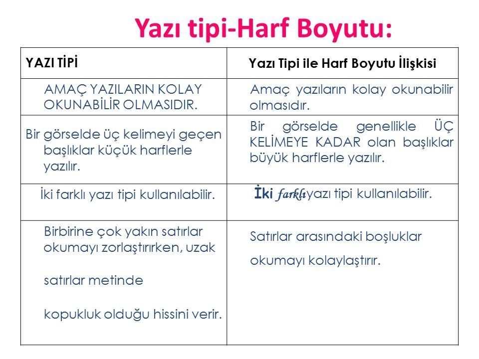 Yazı tipi-Harf Boyutu: