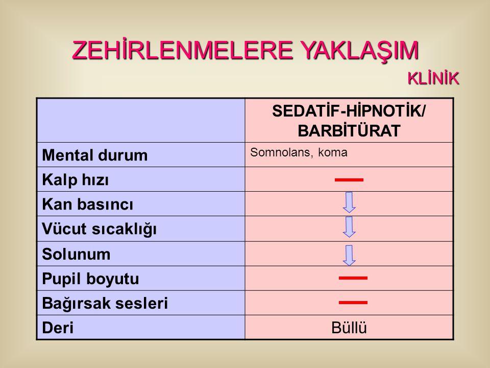 SEDATİF-HİPNOTİK/ BARBİTÜRAT
