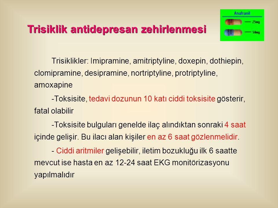 Trisiklik antidepresan zehirlenmesi