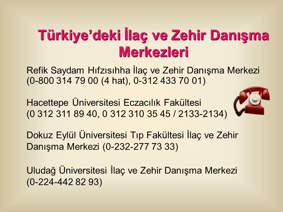 Türkiye'deki İlaç ve Zehir Danışma Merkezleri