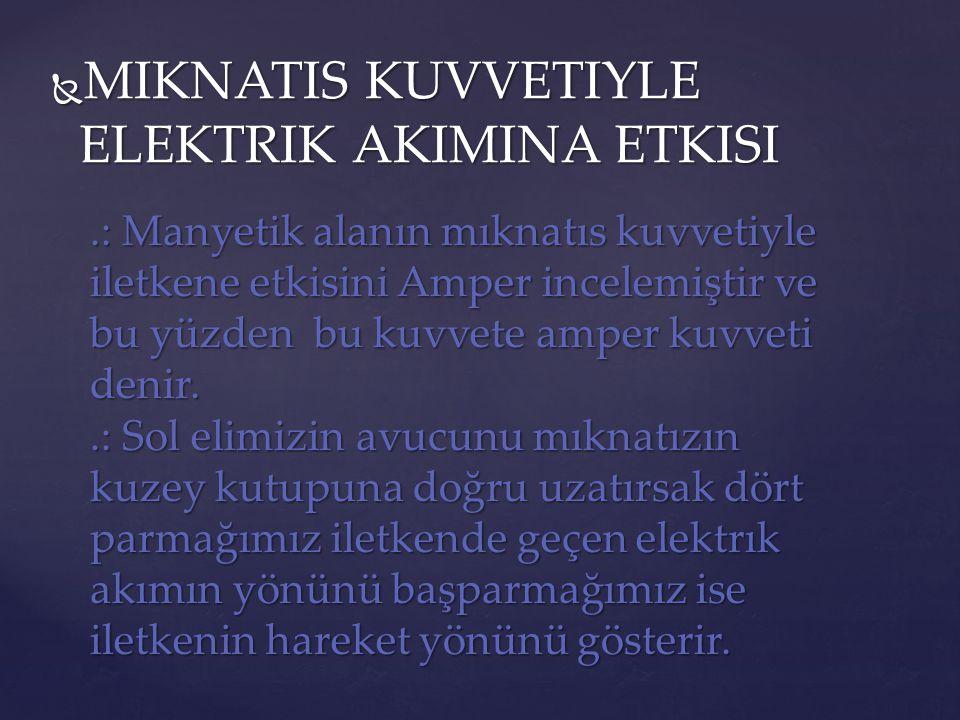 MIKNATIS KUVVETIYLE ELEKTRIK AKIMINA ETKISI