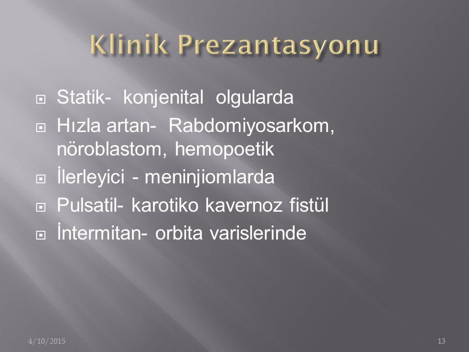 Klinik Prezantasyonu Statik- konjenital olgularda