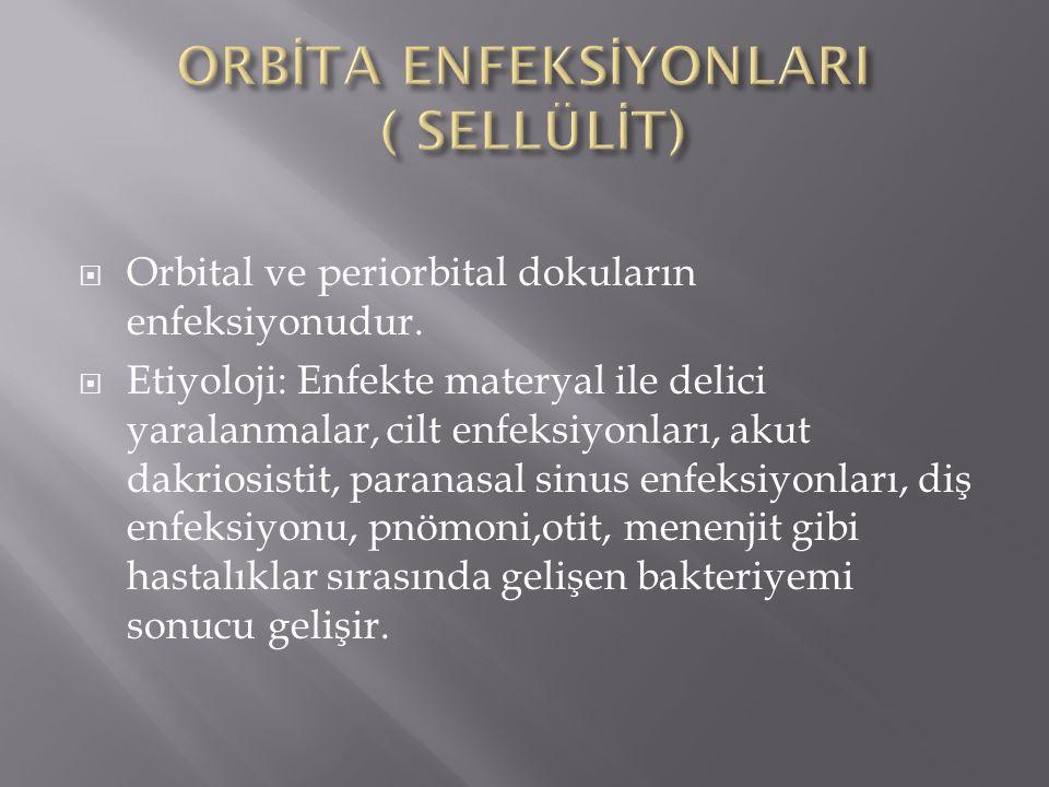 ORBİTA ENFEKSİYONLARI ( SELLÜLİT)
