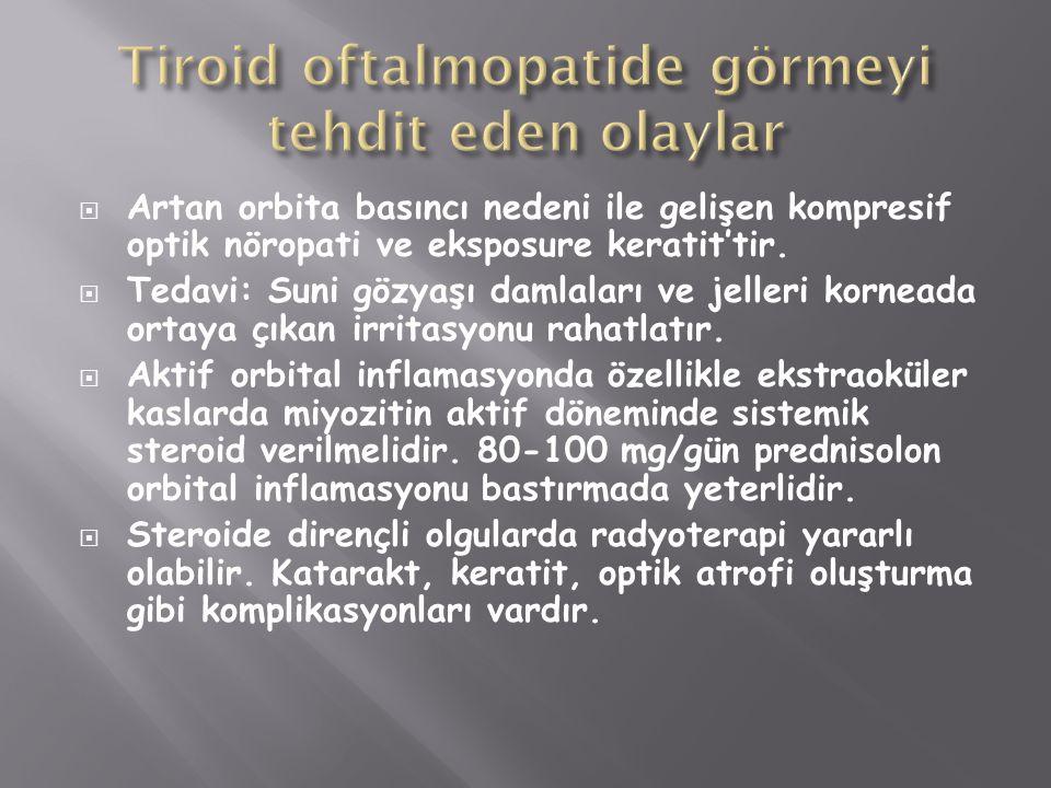 Tiroid oftalmopatide görmeyi tehdit eden olaylar