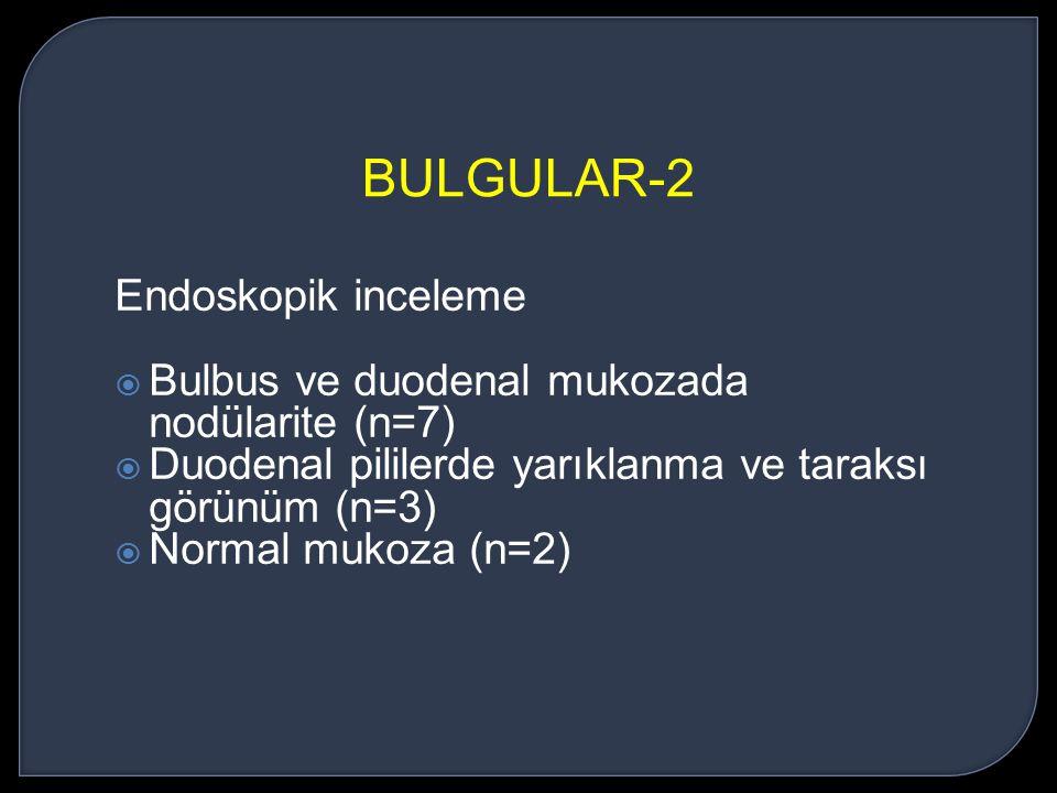 BULGULAR-2 Endoskopik inceleme