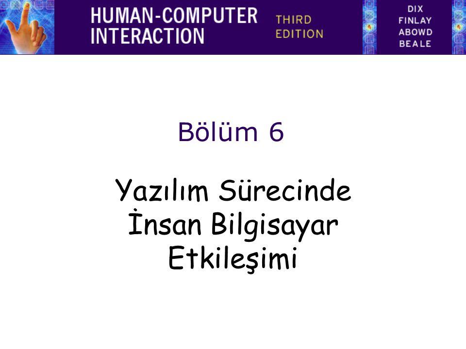 Yazılım Sürecinde İnsan Bilgisayar Etkileşimi