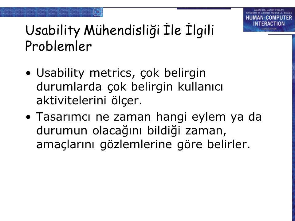 Usability Mühendisliği İle İlgili Problemler