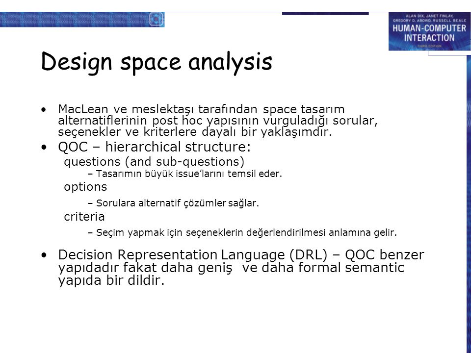 Design space analysis QOC – hierarchical structure: