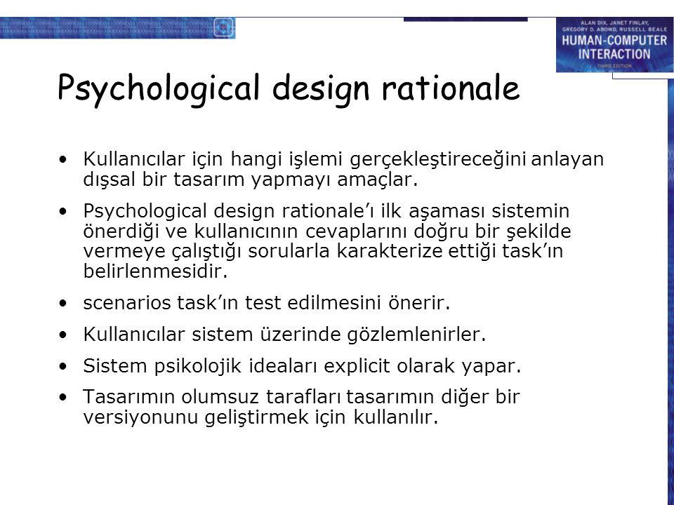 Psychological design rationale