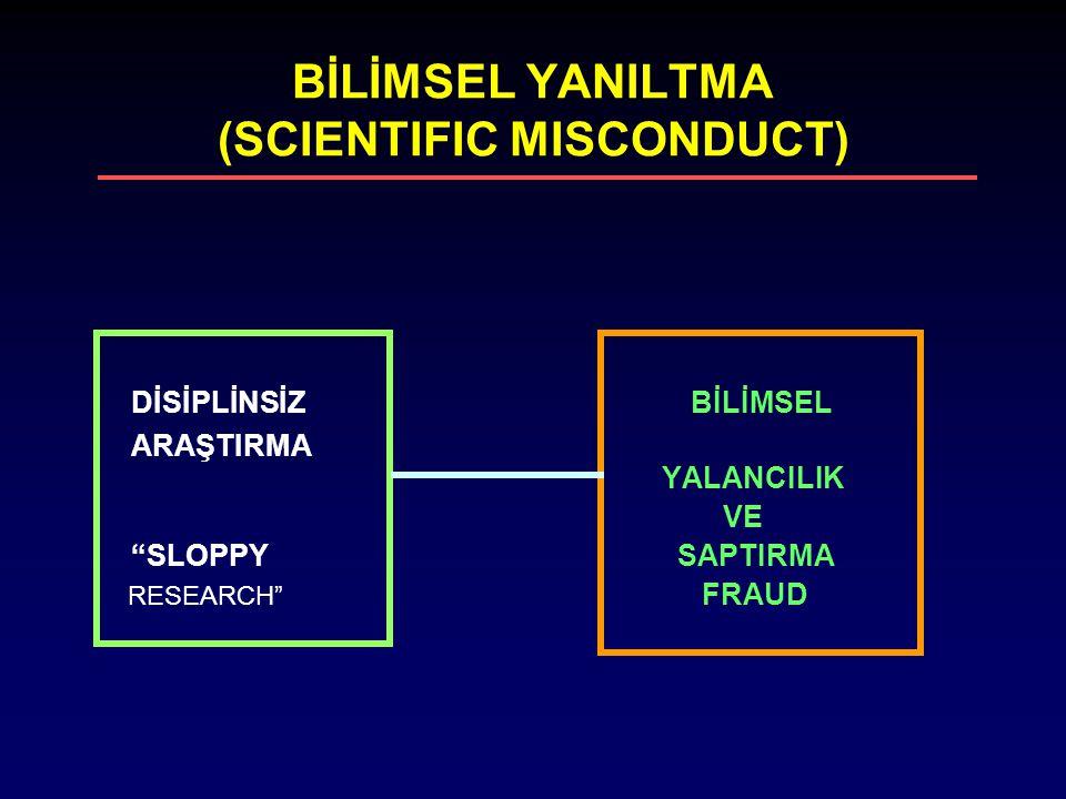 BİLİMSEL YANILTMA (SCIENTIFIC MISCONDUCT)