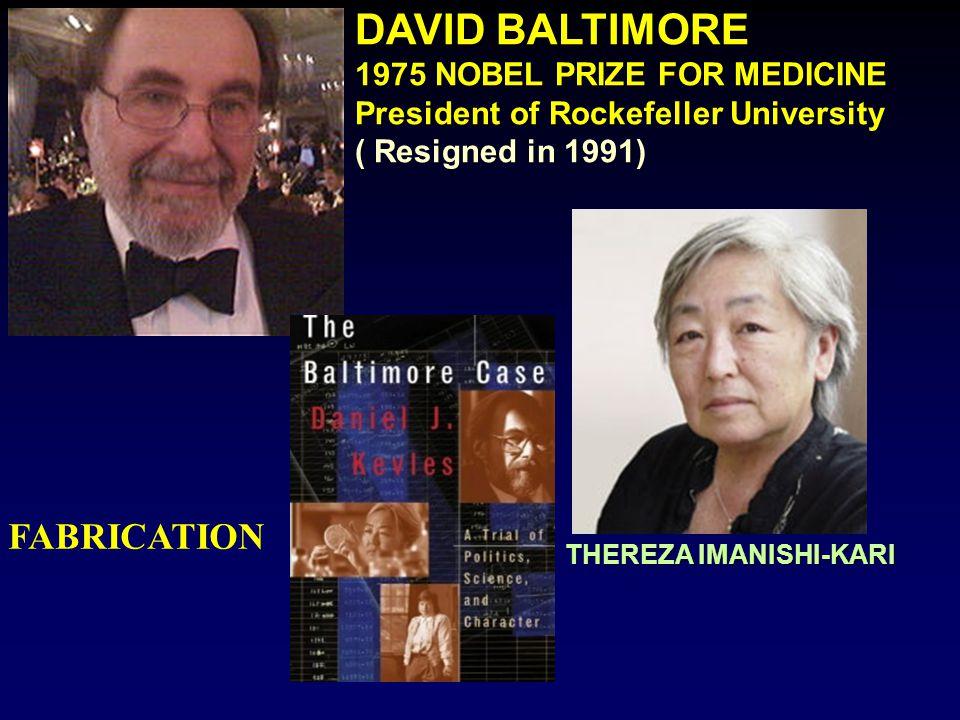 DAVID BALTIMORE NOBEL PRIZE FOR MEDICINE