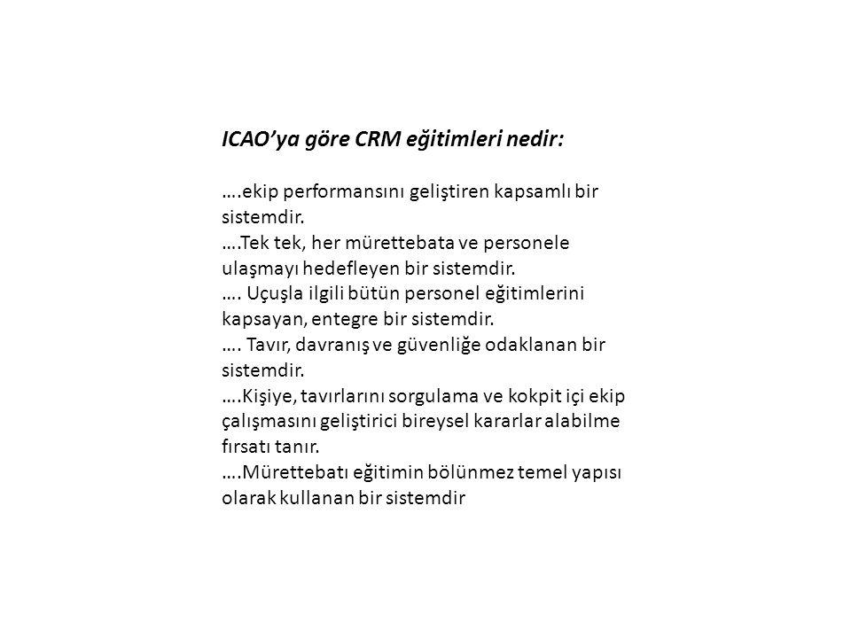 ICAO'ya göre CRM eğitimleri nedir: