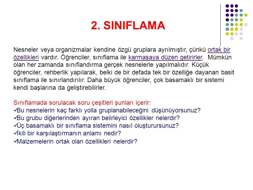 2. SINIFLAMA