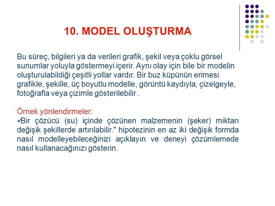 10. MODEL OLUŞTURMA