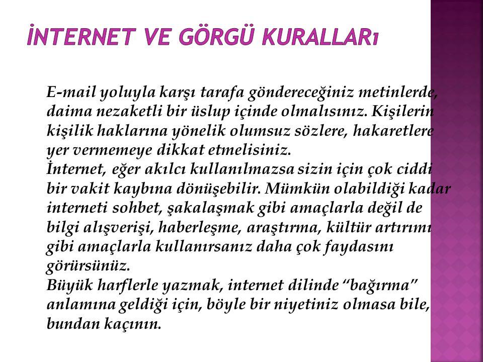 İnternet ve görgü kuralları