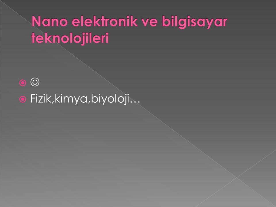 Nano elektronik ve bilgisayar teknolojileri