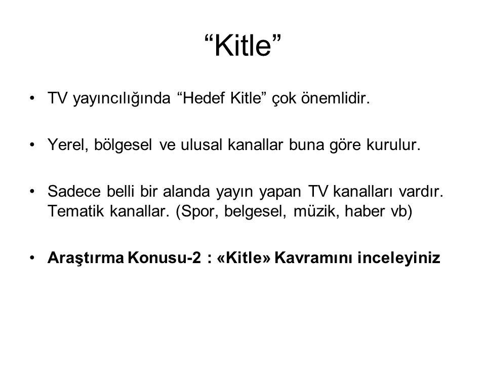 Kitle TV yayıncılığında Hedef Kitle çok önemlidir.