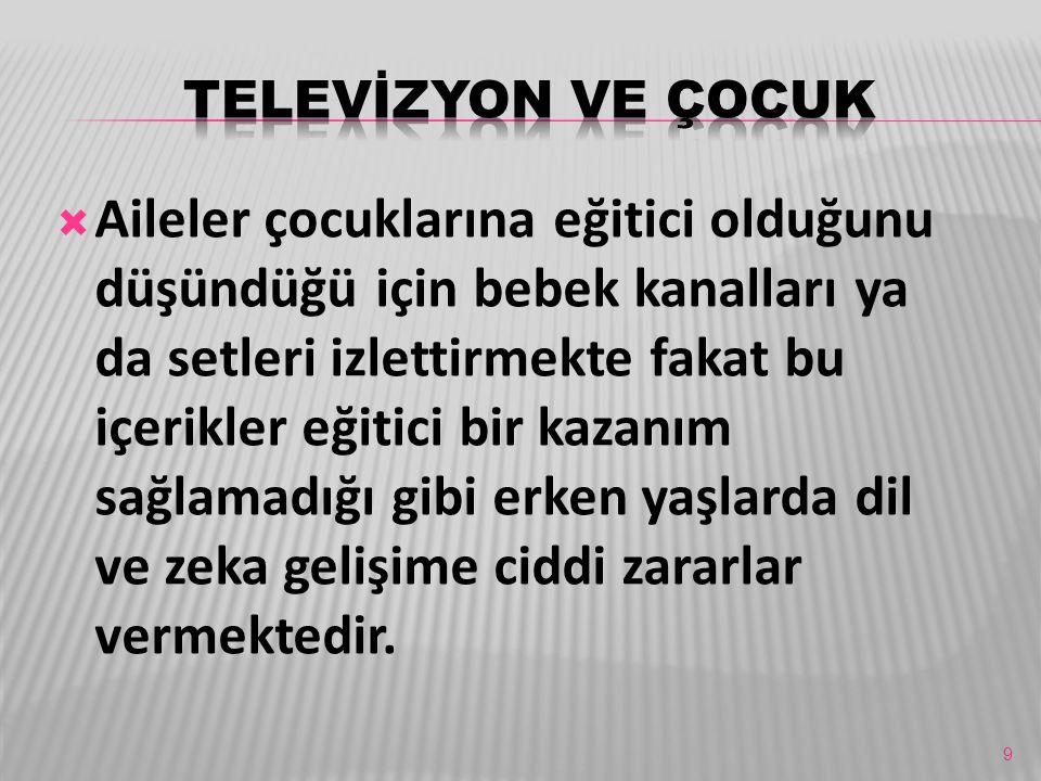 TELEVİZYON VE ÇOCUK