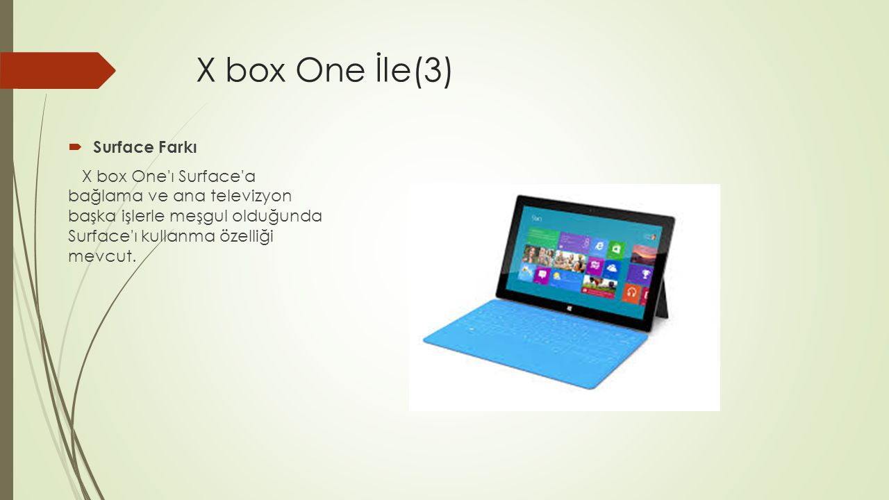 X box One İle(3) Surface Farkı