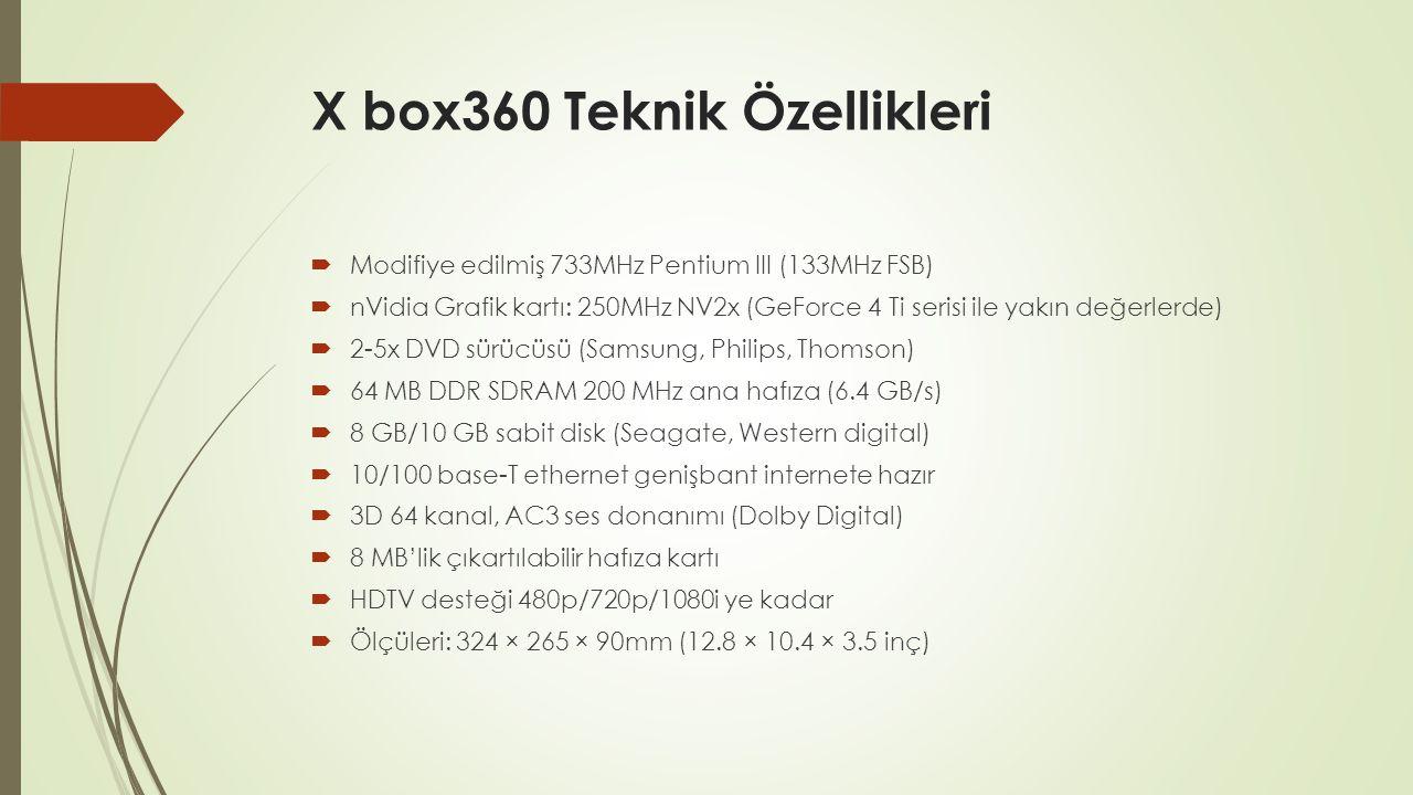 X box360 Teknik Özellikleri