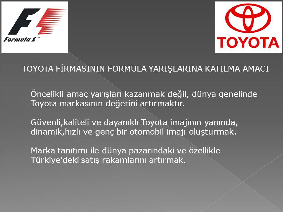 Öncelikli amaç yarışları kazanmak değil, dünya genelinde Toyota markasının değerini artırmaktır.