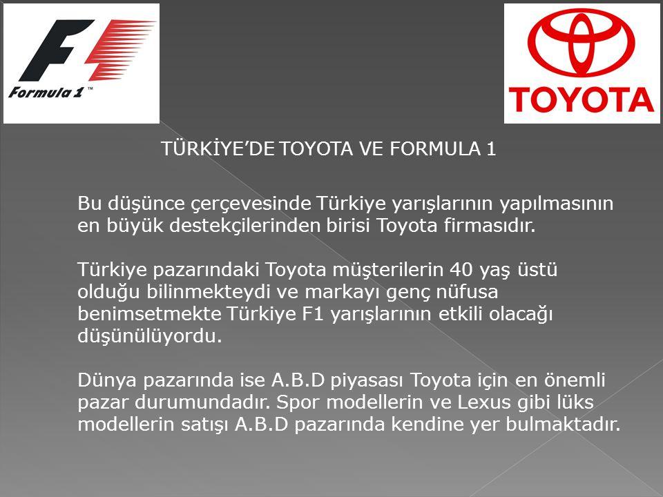 Bu düşünce çerçevesinde Türkiye yarışlarının yapılmasının en büyük destekçilerinden birisi Toyota firmasıdır.