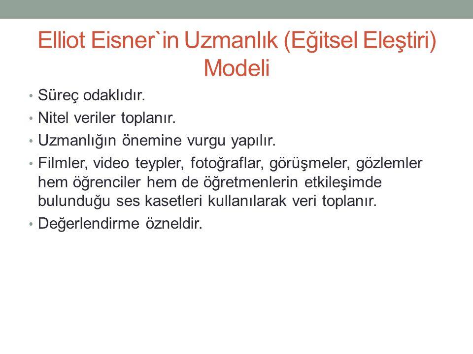 Elliot Eisner`in Uzmanlık (Eğitsel Eleştiri) Modeli