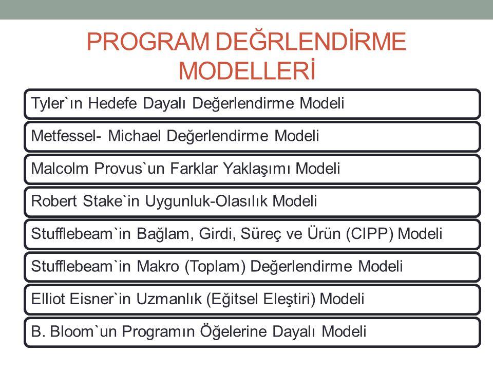 PROGRAM DEĞRLENDİRME MODELLERİ