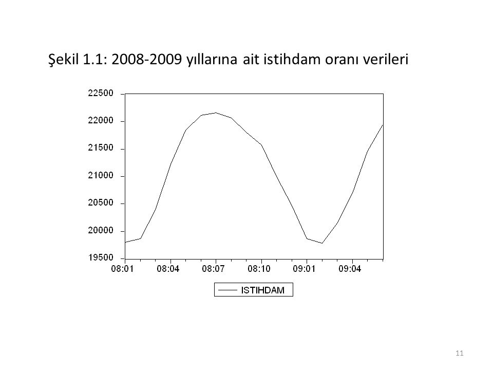 Şekil 1.1: 2008-2009 yıllarına ait istihdam oranı verileri