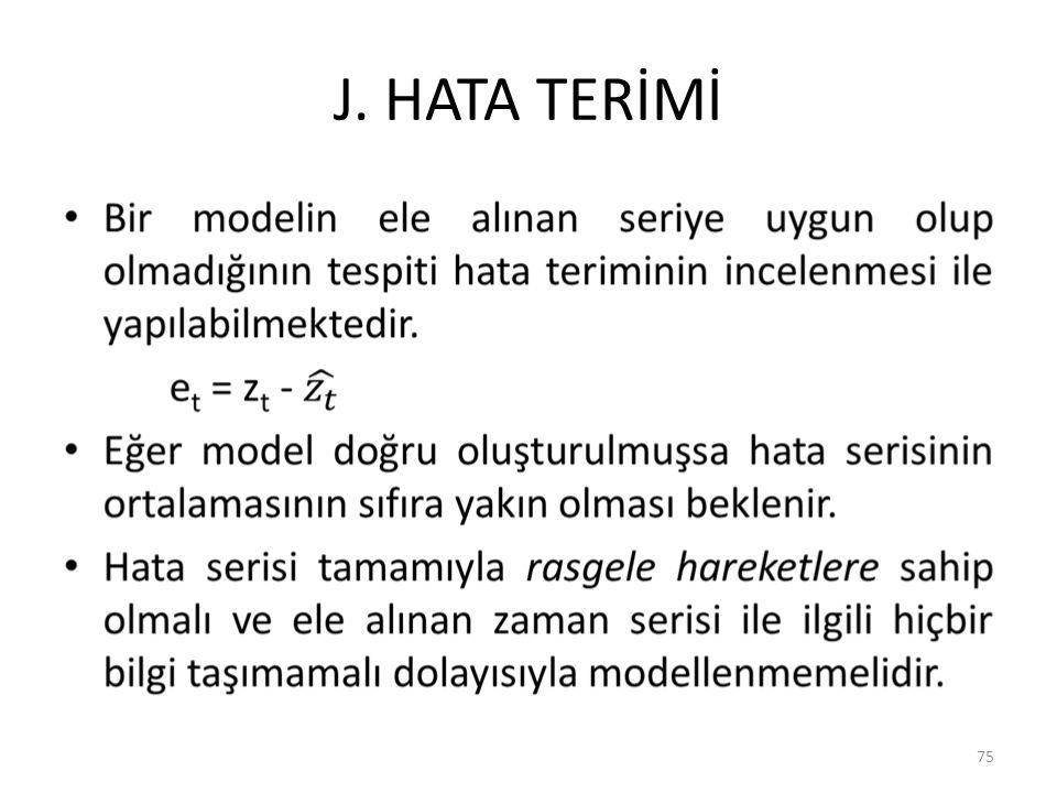 J. HATA TERİMİ